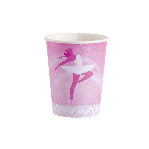 Pappbecher Ballerina, 8 St