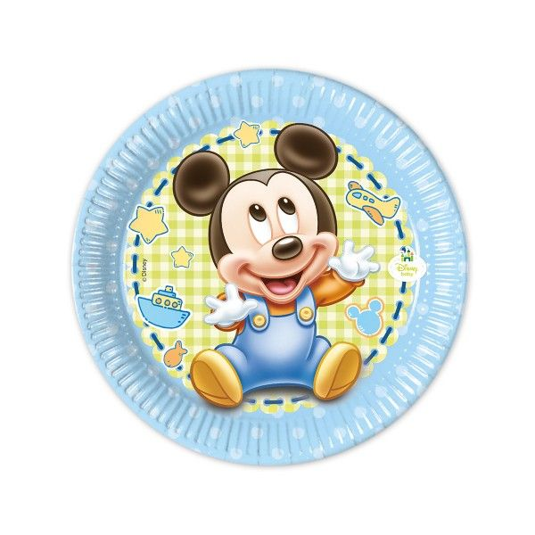 T1142341-Pappteller-Baby-Mickey-20cm-8-Stueck