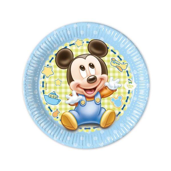 Pappteller Baby Mickey, ø 20cm, 8 Stück