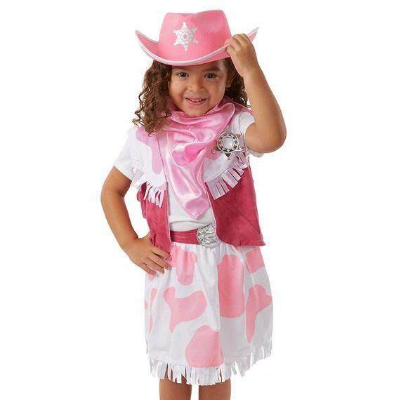Kostüm Cowgirl, Alter 3-6 Jahre, 4-teilig