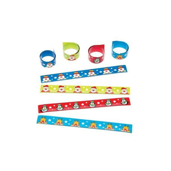 Schnapp Armbänder Weihnachten, 4 Stück