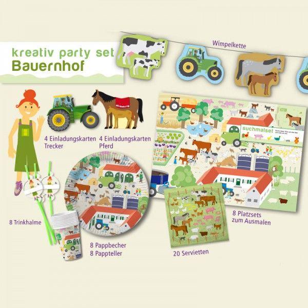 Party-Set Bauernhof, 42-teilig