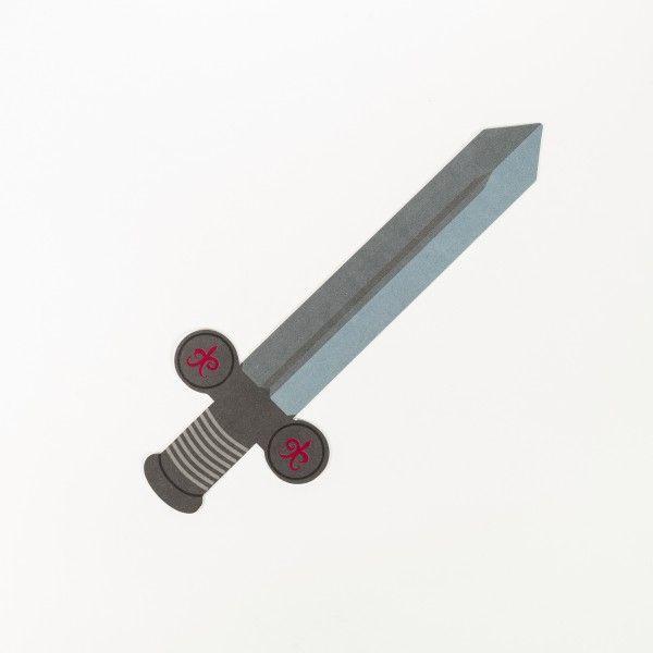 Einladungskarten Ritterschwert, 6 Stück