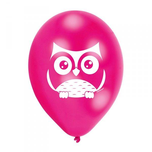 Luftballons Eule, 6 Stück