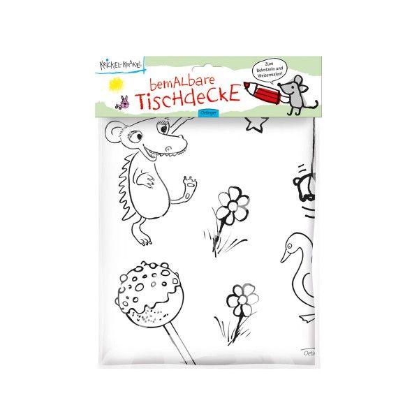 Tischdecke Krickel-Krakel, 130x180cm