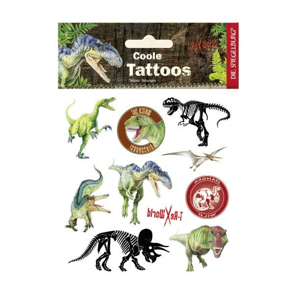 Tattoos Dinosaurier T-Rex World, ca. 11,5x16cm