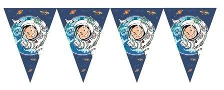 Wimpelkette Astronaut Flo aus Pappe, 1 Stück