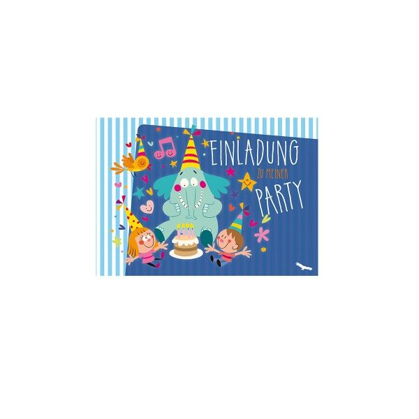 Einladungskarte Elefant, 1 Stück