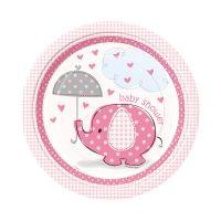 Pappteller Baby rosa,