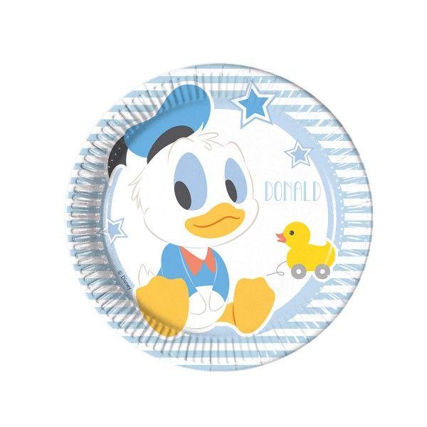 Pappteller Disney Baby Mickey, ø 20cm, 8 Stück