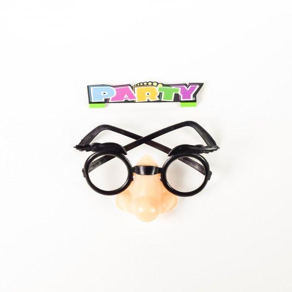 Brille mit Nase, 4 Stück