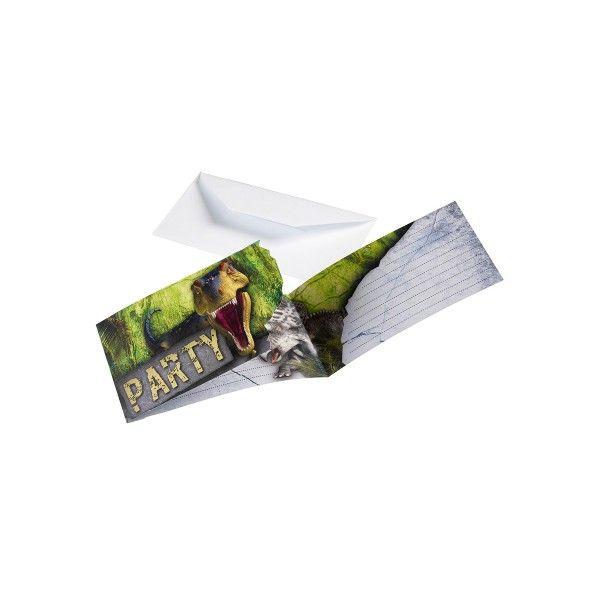 T1142152-Einladungskarten-Dinosaurier-8-Stueck