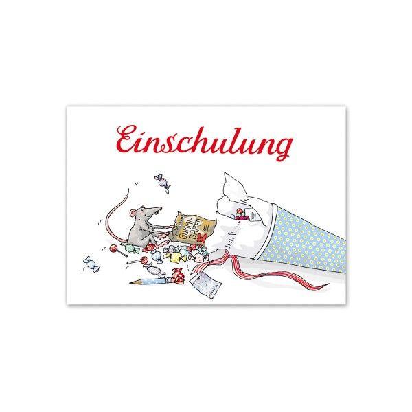 Postkarte Einschulung