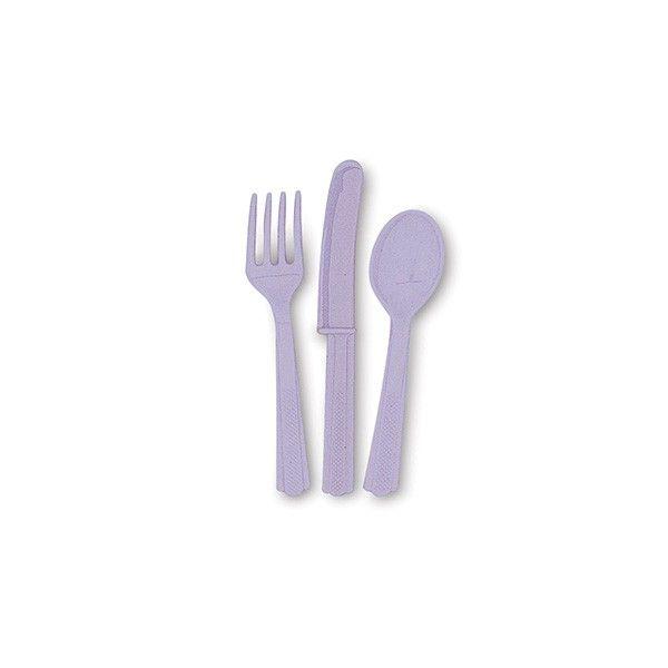 Besteck Lavendel/hell lila, 18-teilig