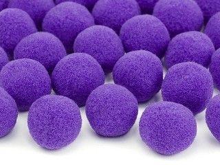 Deko-PomPoms aus Plüsch, lila, 20 Stück