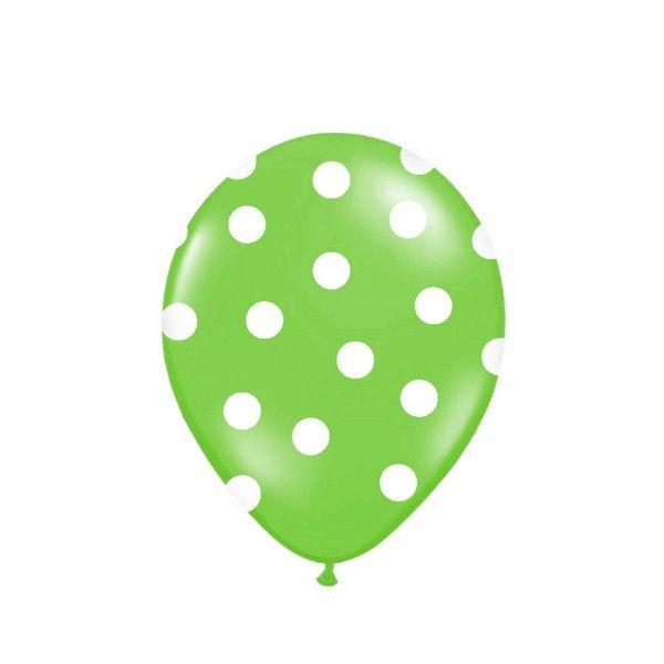 Luftballons mit  Punkten gr