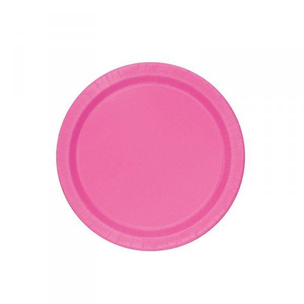 Pappteller Pink, Ø 23cm, 8 Stück