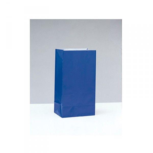 Partytüten aus Papier, blau, 12 Stück