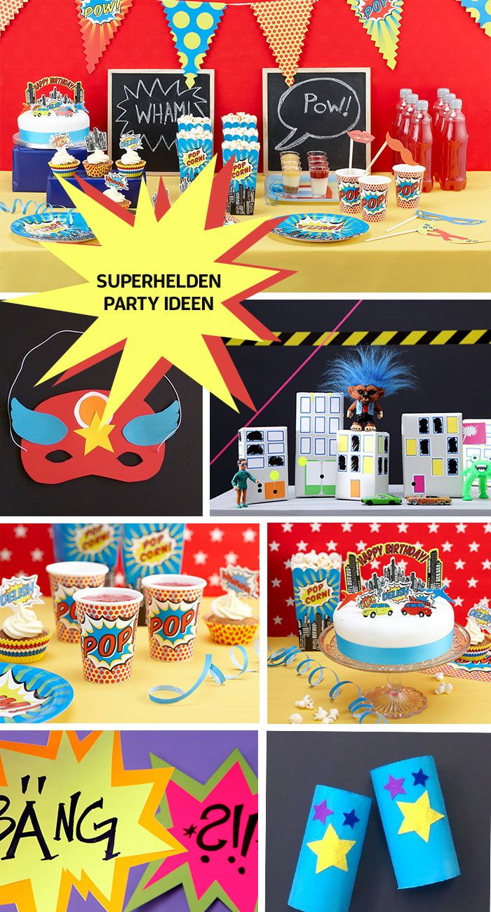Tolle Ideen für die Superhelden-Party!