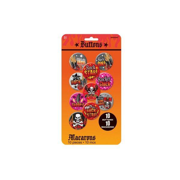 Buttons Rockstar, 10 Stück