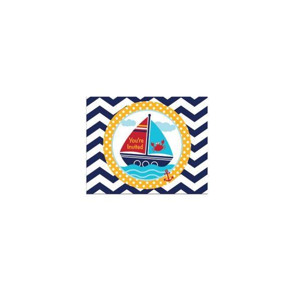 T1141951-Einladungskarten-Kleiner-Seefahrer-8-Stueck