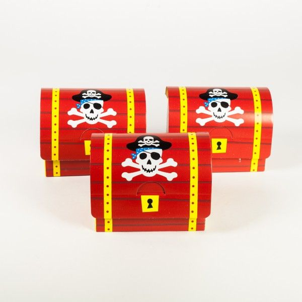 Schatztruhe Pirat, 11x8x6cm, 8 Stück
