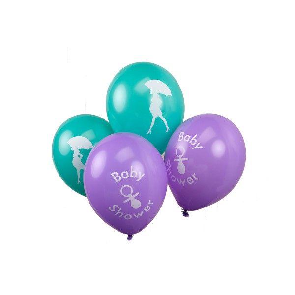 Luftballons Baby-Shower, 8 Stück