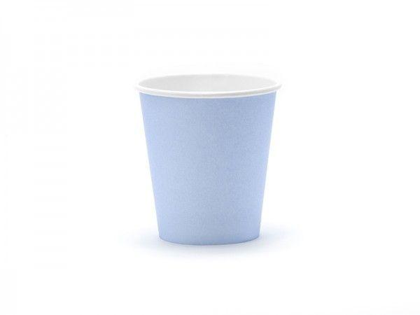 Pappbecher Pastellblau, 160 ml, 6 Stück