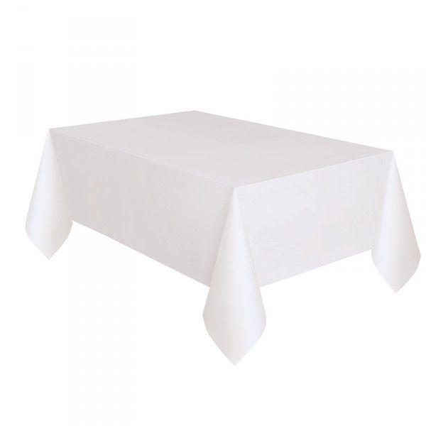 Tischdecke, weiß, 137x274cm