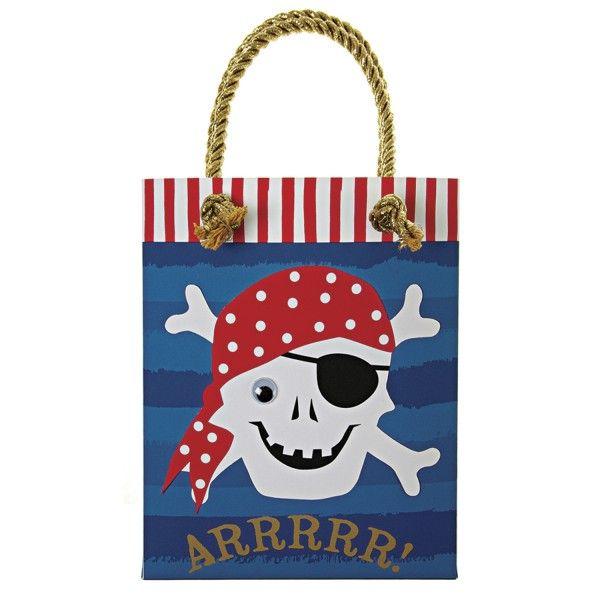 Partytüten Pirat, 8 Stück