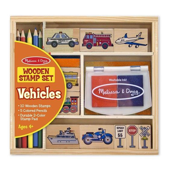 Stempel Set Fahrzeuge und Flugzeuge