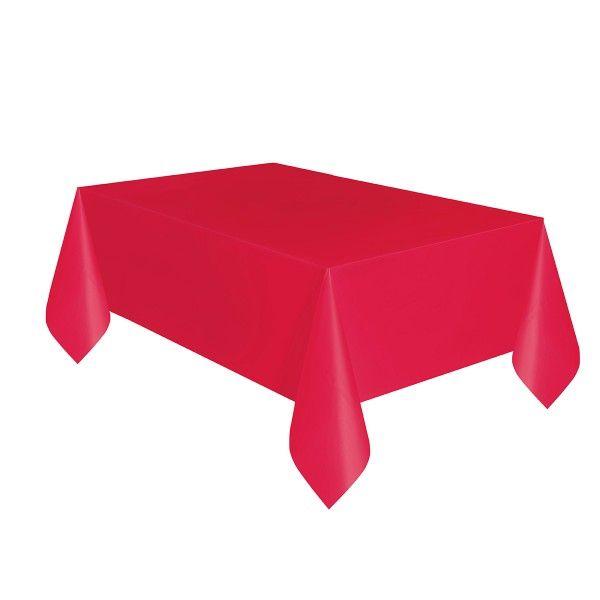 Tischdecke rot, 137x274cm