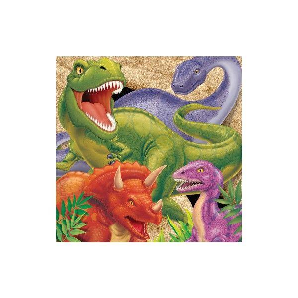 Servietten Dino, 33 cm, 16 Stück