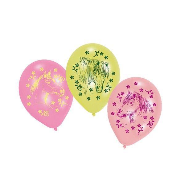 Luftballons Pferde, 6 Stück