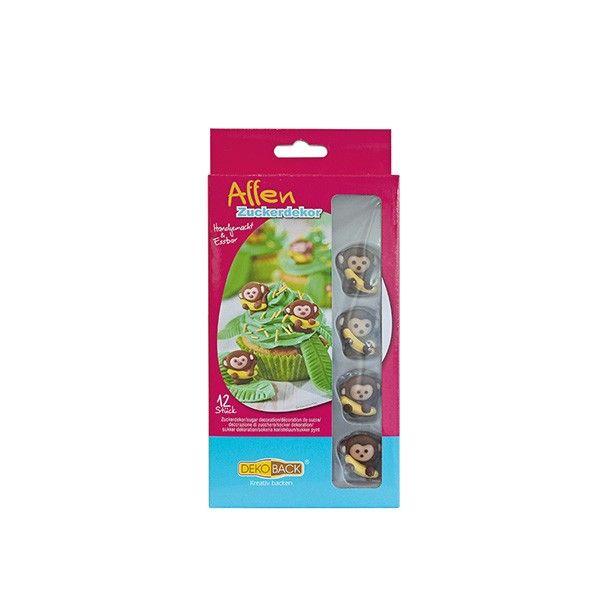 Zuckerdekor Affen, 12 Stück