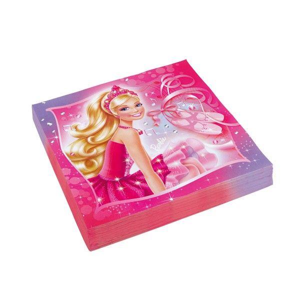 Serviette Barbie, 33cm, 20 St
