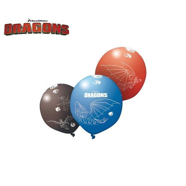 Luftballons Drachenzähmen leicht gemacht, 5 Stück X