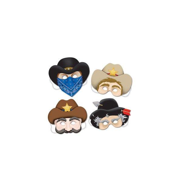 Papiermasken-Cowboys-4-Stueck