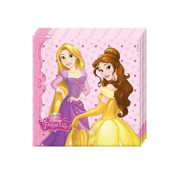 Servietten Disney Prinzessinnen, 33cm, 20 St