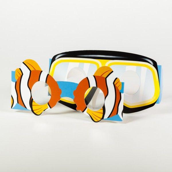 Papierbrillen Unterwasserwelt, 6 Stück