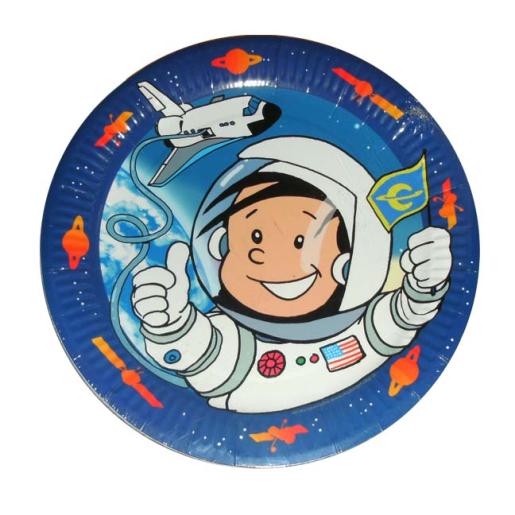 Pappteller Astronaut Flo, ø 23cm, 8 Stück