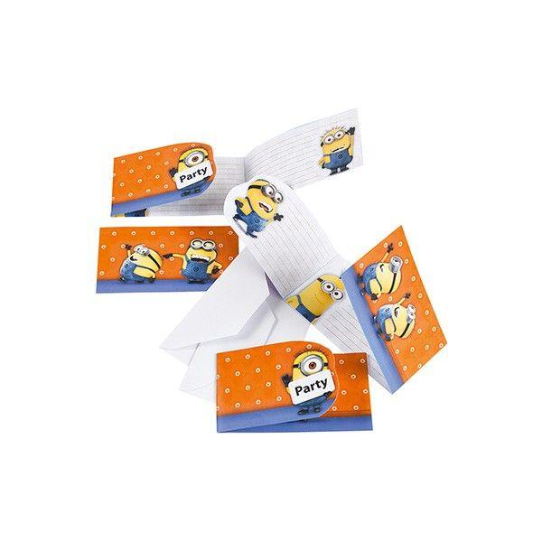 Einladungskarten Minions, 6 Stück