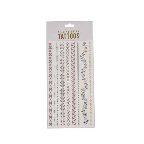 Tattoos Armbänder in silber/pastell