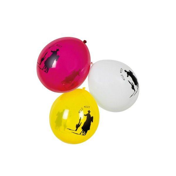T1141967-Luftballons-Wilder-Western-25cm-6-Stueck