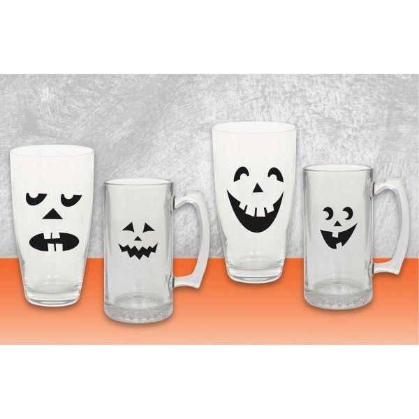Glasmarkierer Halloween, 16 St