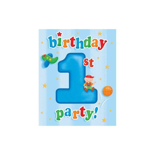 Einladungen 1. Geburtstag, 8 St