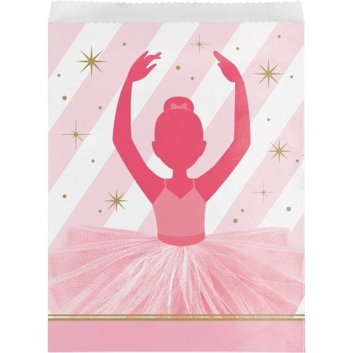 Papiertüten bezaubernde Ballerina, 10 Stück