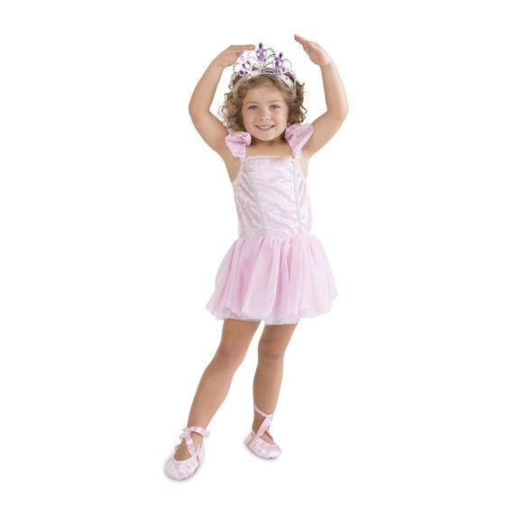 Kostüm Ballerina, Alter 3-6 Jahre, 1 Stück