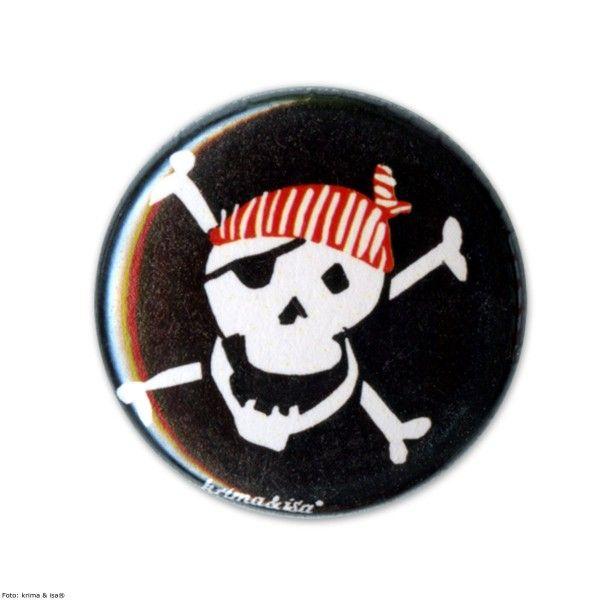 Button Pirat, ø 2,5cm