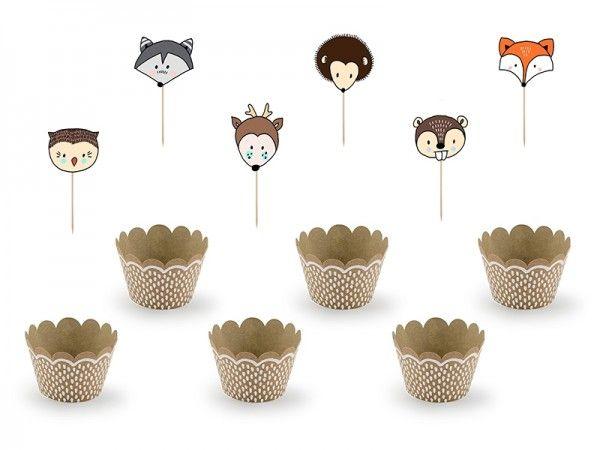 Cupcake-Set Woodland (Wald), 12 Teile